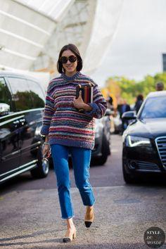 Eva Chen Street Style Street Fashion Streetsnaps by STYLEDUMONDE Street Style Fashion Photography
