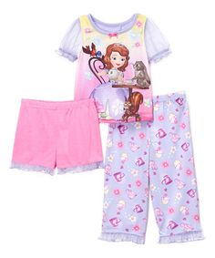 Look what I found on #zulily! Purple & Pink Floral Sofia Pajama Set - Toddler #zulilyfinds