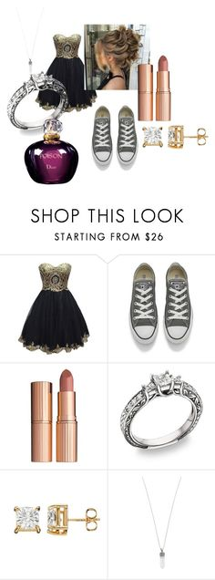 """""""prom"""" by bethecaptain on Polyvore featuring Converse, Charlotte Tilbury, Marc Jacobs and Christian Dior"""