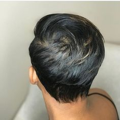 How to Thicken & Maintain Fine Hair Short Sassy Hair, Short Hair Cuts, Short Hair Styles, Pixie Cuts, Short Relaxed Hair, Short Pixie, Cute Hairstyles For Short Hair, Bob Hairstyles, Saree Hairstyles