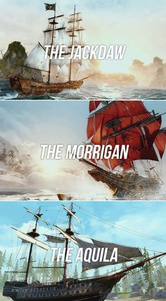 The Jackdaw The Morrigan & The Aquila, the ships of Assassin's Creed