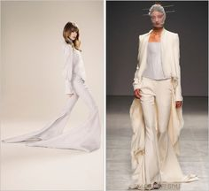 Gareth Pugh 'Silk Chiffon Long Train Trousers' - $2462.00