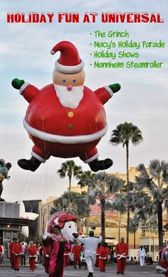 What to expect Christmas week at Universal Studios.