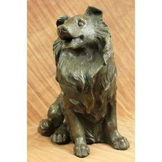 ON SALE !!! Vntage Cast 100% Real Bronze Colored Collie Dog Shaped/Theme Garden Decoration...This Solid Bronze Collie Figurine Captures The Calm Beauty Of The Regal Dog. Nice Detail And Wonderful Warm Brown Patina Evenly Distributed. A Must Have For Collie Lovers. Beautiful Dog. The Sculpture Was Crafted Using The Lost Wax Method, And Is Signed By Artist C. Williams.