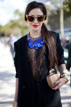 STREET STYLE SPRING 2013: PARIS FASHION WEEK - This girl knows the draw of a good accessory.