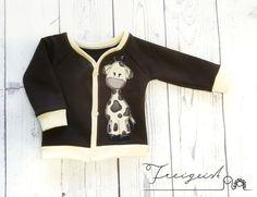 Jäckchen Giraffe - Gr. 56 :: Freigeist - kreatives Handwerk Baby, Free Spirit, Creative Crafts, Kids Clothes, Ghosts, Jackets, Cotton, Babies, Infant
