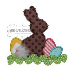 Easter Rabbit in Grass Digital Embroidery by theappliquediva, $2.99