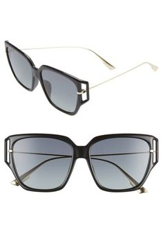 Dior Direction Butterfly Sunglasses, In Black/ Grey Dior Sunglasses, Sunglasses Accessories, Jewelry Accessories, World Of Fashion, Luxury Branding, Black And Grey, Nordstrom, Butterfly, Shopping