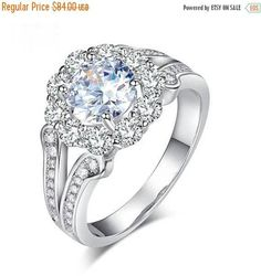 SAVE 25% Engagement Ring  1.25 Ct. Round Cut Prong Set Stone