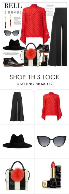 """""""Bell Sleeves - Street Style*"""" by biange ❤ liked on Polyvore featuring Marco de Vincenzo, Yves Saint Laurent, Fendi, Tiffany & Co., Alberto Guardiani, Les Petits Joueurs, Guerlain, Edge of Ember and bellsleeves"""