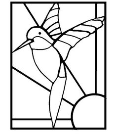 Free+Mosaic+Patterns+for+Beginners | Hummingbird Stained Glass Mosaic & Stepping Stone Pattern