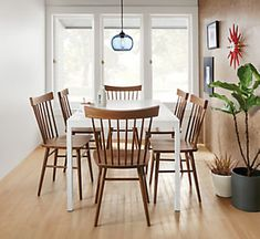 Pratt Dining Tables - Sava Dining Chairs in Camel with White Pratt Table…
