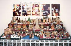 Christmas Village Ideas -love the layout