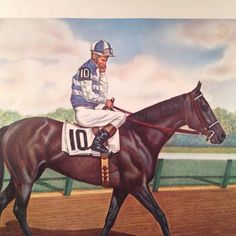 Recently discovered after being locked away for nearly 50 years, is a wonderful collection of Signed Allen F. Brewer Equine, Thoroughbred, Standardbred, � Race Horse, Prints. � Brewer, born in 1921, s Carry Back, Carry On, Derby Winners, Thoroughbred, Kentucky Derby, Horse Racing, Horses, Baseball Cards, Signs