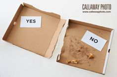 Illustration of recyclable material in pizza boxes. ; )