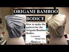 Origami bamboo bodice tutorial TR cutting - YouTube
