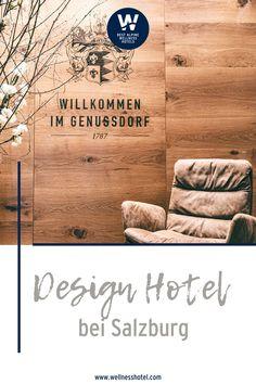 Das Genussdorf Gmachl - Hotel & Dorfspa gleich neben Salzburg bietet ein #dorfvollergenuesse für Körper, Geist und Gaumen. Ob ein romantisches Wellnesswochenende zu Zweit, Genussurlaub mit Freunden, inspirierende Kulturreise oder spannender Städtetrip. Im Designhotel in Bergheim fühlst Du Dich immer wohl! Design Hotel, Hotels, Salzburg Austria