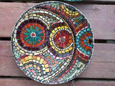 Mosaic plate   by MOUSHKA craft