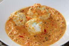 PERISOARE CU SOS DE SMANTANA - Flaveur Healthy Meals For Kids, Healthy Recipes, Eggs, Breakfast, Food, Morning Coffee, Essen, Healthy Eating Recipes, Egg