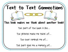 Great way to introduce text to text connections. | Anchor Charts ...