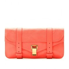 Proenza Schouler Ps1 Leather Clutch ($1,025) ❤ liked on Polyvore