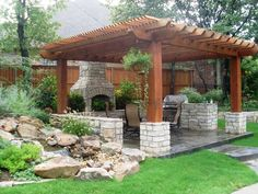 Love this pergola design