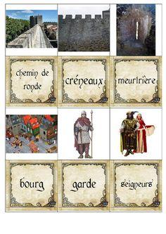 Les châteaux-forts - Fiches de préparations (cycle1-cycle 2-ULIS) Chateau Moyen Age, Medieval, Cycle 2, Château Fort, Best Teacher, Art Education, Social Studies, Forts, Pirates