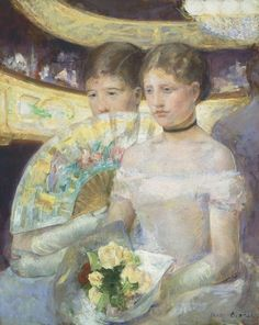 Mary Cassatt - The Loge, 1882