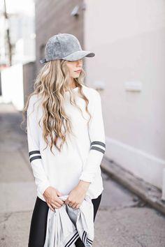 fashion, style, varsity stripe tee shirt, jessakae
