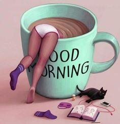 Coffee Break, Good Morning Coffee Cup, I Love Coffee, My Coffee, Coffee Cups, Morning Coffee Quotes, Coffee Menu, Coffee Girl, Coffee Signs