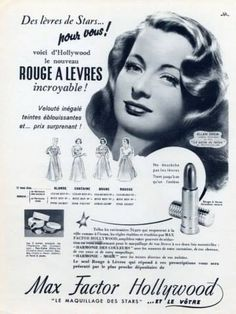 Another lovely Max factor advert this time from the 40s