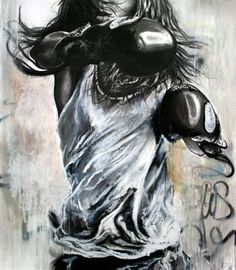 Cécile Desserle PART I is a pop-rock artist par excellence. At once faithful . Muay Thai, Boxing Tattoos, Art Of Fighting, Rock Artists, Pop Rock, Cecile, Girls Be Like, Graffiti Art, Art Girl