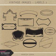 Vintage Images Kit - Labels #2 | digital scrapbooking | photoshop brushes, vintage, heritage, ephemera