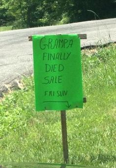 "Was that necessary? How bout ""yard"" sale? 
