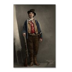 Fully Restored Billy the Kid Color Postcards (Pack by MALudwigWorks Vintage Photographs, Vintage Photos, Cowboys And Indians, Real Cowboys, Old West Outlaws, Westerns, Old West Photos, Western Photo, Billy The Kids