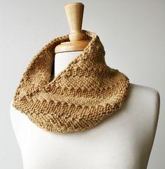 Fall Fashion Knit Cowl. Men's Scarf Women's by ElenaRosenberg