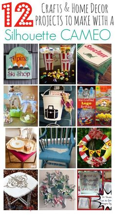 Pinned more than 1,500 times! Silhouette Cameo Projects: 12 Crafts to Make with a Silhouette