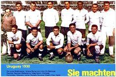 EQUIPOS DE FÚTBOL: SELECCIÓN DE URUGUAY 1930, CAMPEÓN DEL MUNDO Football Squads, World Football, School Football, Football Team, World Cup Teams, Fifa World Cup, World Cup Final, Team Photos, Big Men