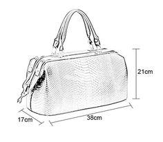 New Fashion Crocodile Pattern Women Synthetic Leather Handbag Shoulder Tote Doctor Bag Leather Handbags, Leather Bag, Knit Basket, Purse Patterns, Handbags Online, Crocodile, New Fashion, Gym Bag, Tote Bag