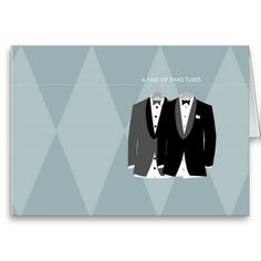 A Tale of Two Tuxes Greeting Card