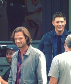 Jared  Padalecki  as  Sam  Winchester  and  Jensen  Ackles  as  Dean  Winchester  on  Supernatural  ♡  ♡