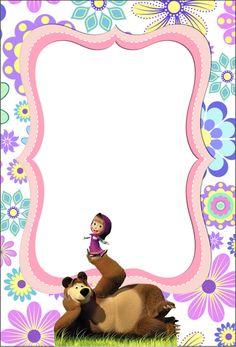 Bear Birthday, 1st Birthday Parties, Birthday Party Decorations, 2nd Birthday, Happy Birthday, Marsha And The Bear, Princess Birthday Invitations, Disney Printables, Bear Party