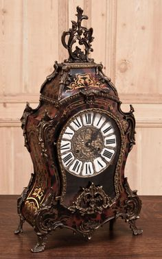 Antique French Louis XIV Tortoiseshell Clock | Antique Clocks | Inessa Stewart's…