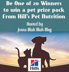 20 People Win a Prize Package for your Pup or Kitty From Hills Pet Nutrition!