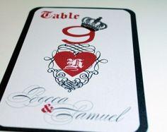 Las Vegas Themed Wedding Table Number Reception Decor   DivaGoneDomestic.com