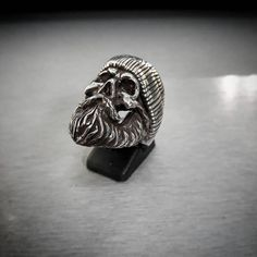Sailor Skull 925 Sterling Silver Ring sailor with mustache STERLING SILVER 925 RING HIGHEST QUALITY HIGHEST QUALITY 100% SOLID STERLING SILVER STAMP .925 TRADEMARK INSIDE THE BAND. THE RING COME AT ANY DESIRABLE SIZE FIRST CLASS STERLING SILVER JEWELRY, NICELY POLISHED. THIS IS