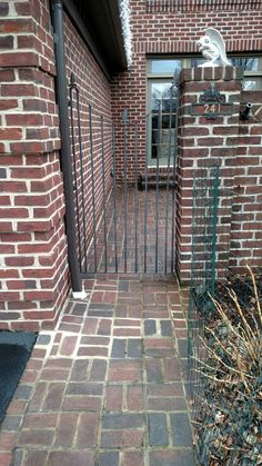 Custom made iron gate for home in State College area.