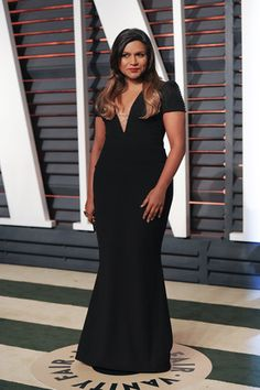 #Mindy Kaling looks stunning at the Vanity Fair Oscar Party, 2015.