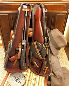 """Thompson 45 cal Machine Gun  """"Tommy Gun"""". A violin case is a must for decor  photo props. If I can't find one, I could always make one out of foam-core."""
