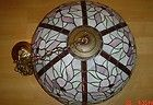 For Sale - HUGE Flowers Floral Tiffany Style Stained Glass Hanging Chandelier Lamp